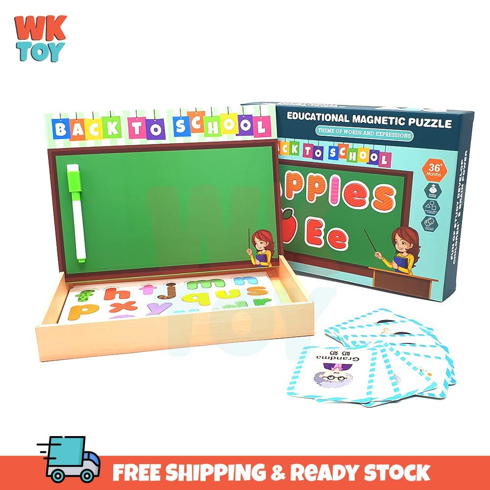 WKTOY Magnetic ABC Numbers Alphabet Early Learning Matching Pairing Pelajaran 磁性 字母 益智