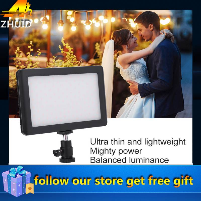 Fill Light 1//4 Screw Hole Ultra-Thin Photography Fill Light with 192 LED Lamp Beads Perfect for Most DSLR 3200K-6000K Color Temperature Tripod 90 Degree Adjustment Holder