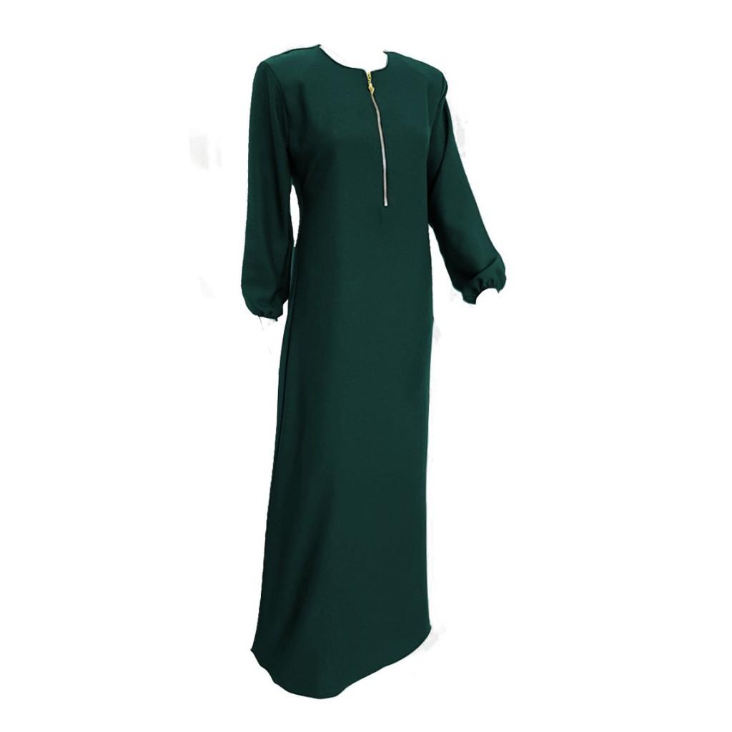 2852a678edf40 Jubah Plain Muslimah Soft Como Crepe Plussize XS - 2XL