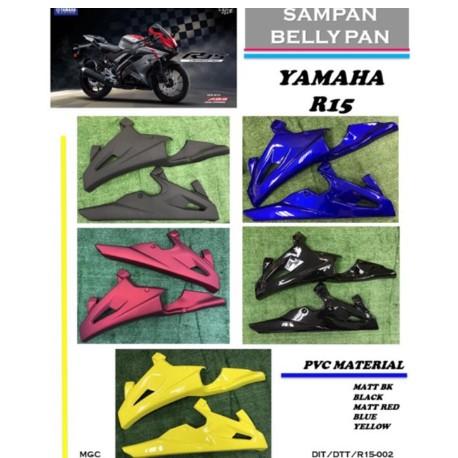 BELLY PAN SAMPAN YAMAHA R15 FIBRE (PNP)
