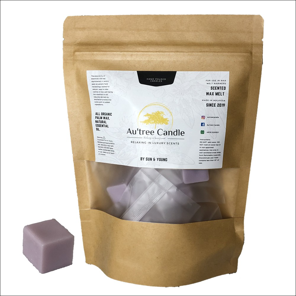 Lavender Stress Relief Handpoured Candle melts/ Wax Melts ^Infused with therapeutic essential oil^