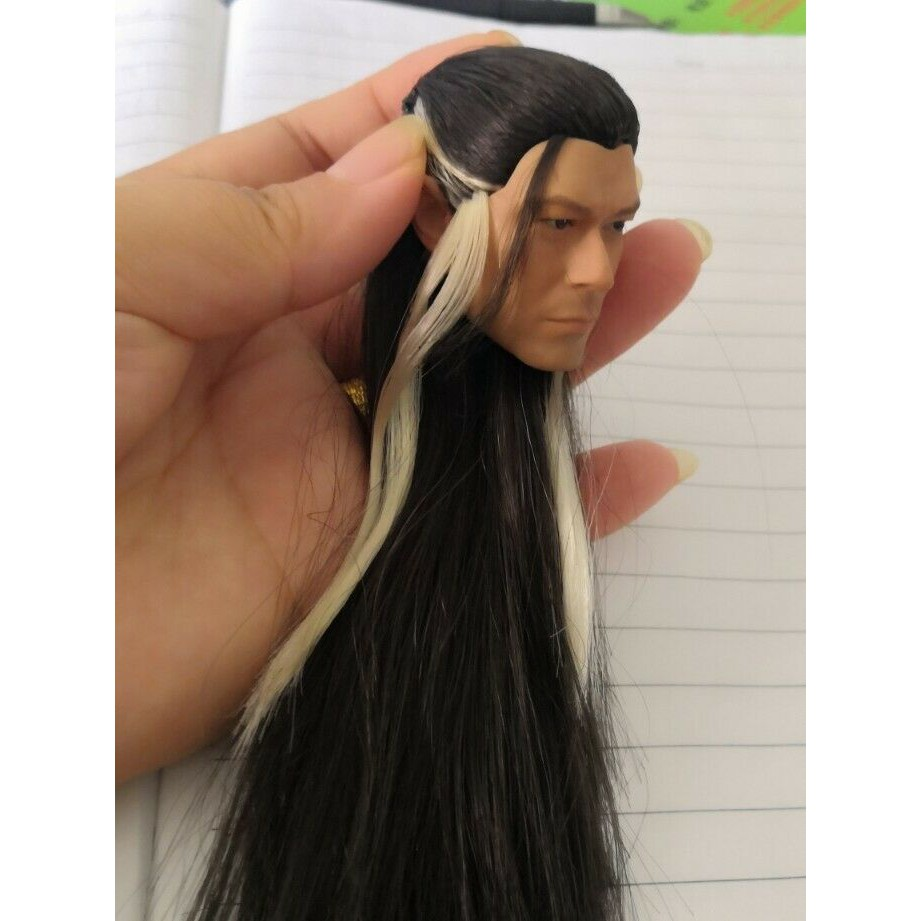 1//6 Chinese Ancient Male Head Sculpt Long hair Style Louis Koo F 12/'/' Figure Toy