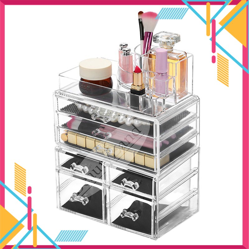Ready Stock 7 Drawers Large Acrylic Cosmetic Makeup OrganizerStorage