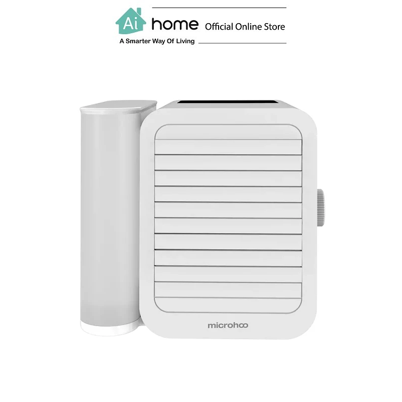 MICROHOO Showman Lite Portable Personal Air Cooler (White) with 1 Year Malaysia Warranty [ Ai Home ]