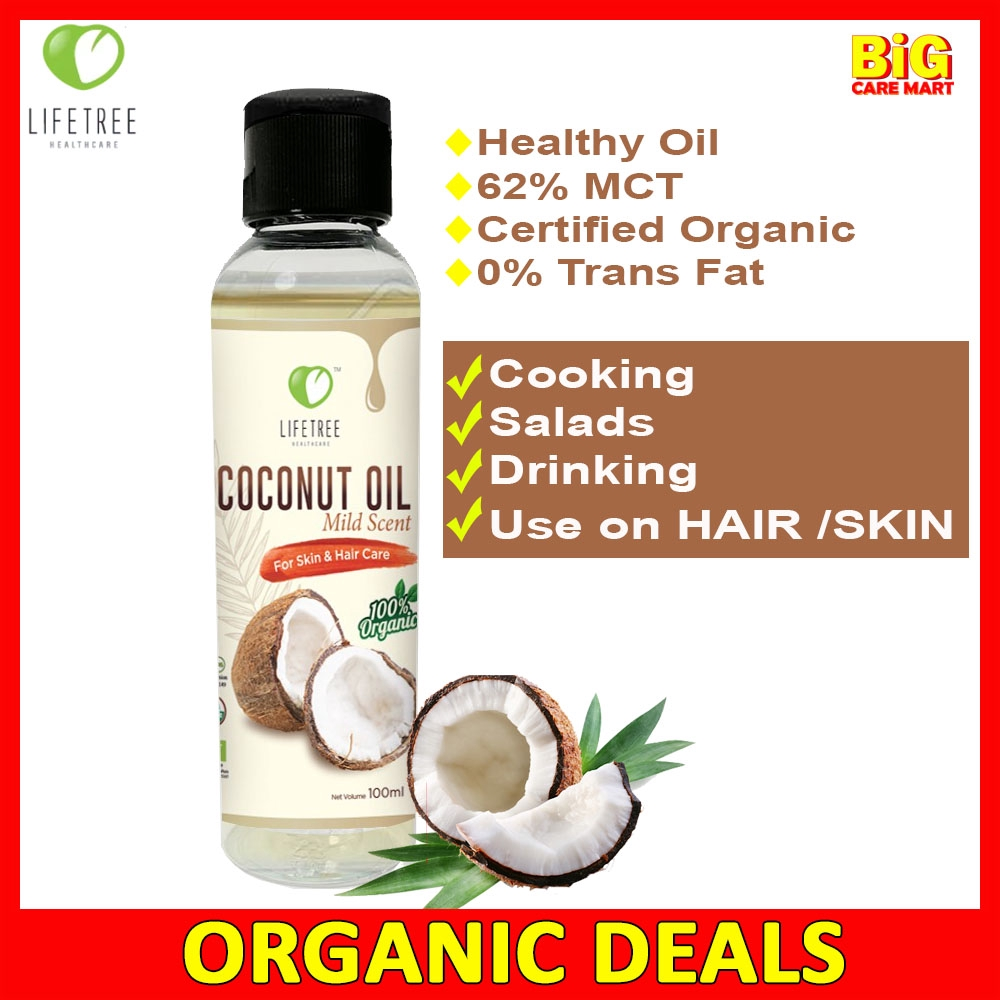 Lifetree Coconut Oil Organic 100ml [Odourless]