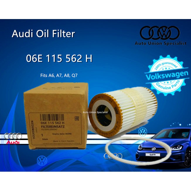 AUDI OIL FILTER  06E115562H/06E 115 562 H (A6 A7 A8 Q7 3.0T, LATE MODELS)