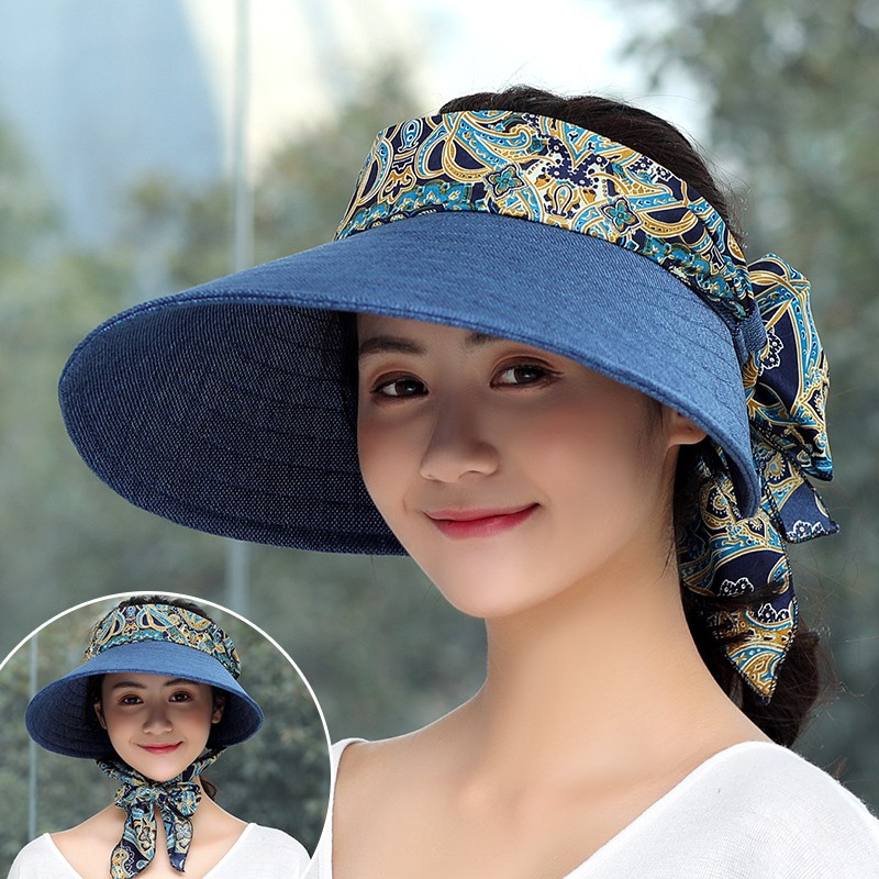ea83fe5d9f4 Empty Top Sun Summer Sun Outdoor Wild Korean Collapsible Riding Sun Hat  Beach Ca