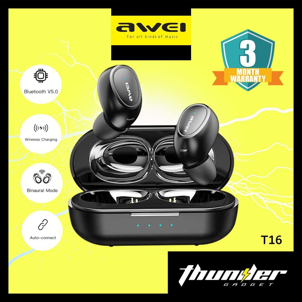 AWEI T16 True Wireless Sports Earbuds Stereo Bluetooth 5.0 Earbud Earphone
