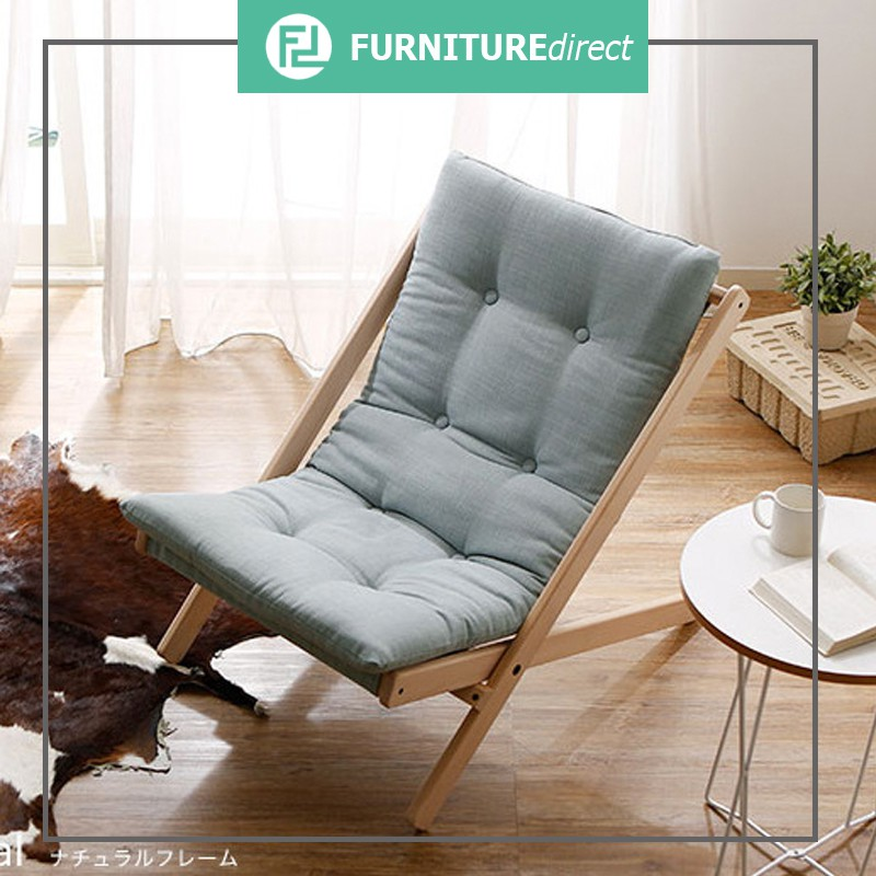 Furniture Direct Fukuoka solid beech wood foldable relax chair