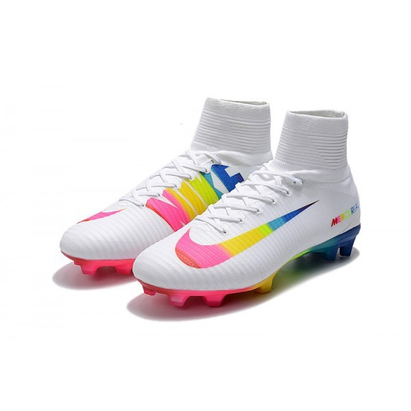 info for 8ef1e f462b Nike Mercurial Superfly 5 FG Firm Ground Boot -White Rainbow
