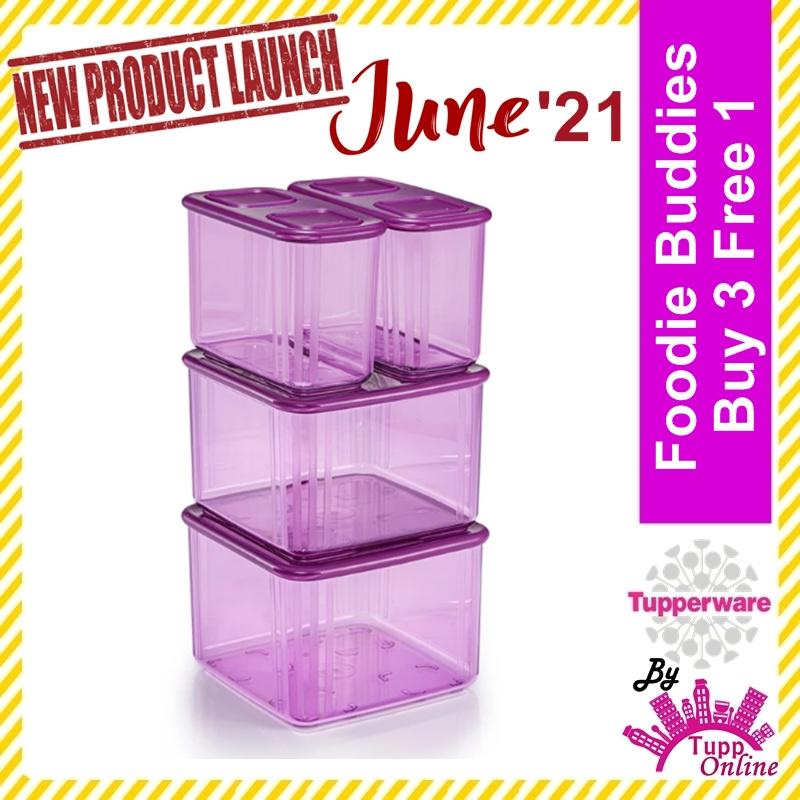 Original TUPPERWARE Fresh n' Clear Tall Set (2)715ml (2)1.62L / Bekas Makanan / Food Fresh Glass Container [Ready Stock]