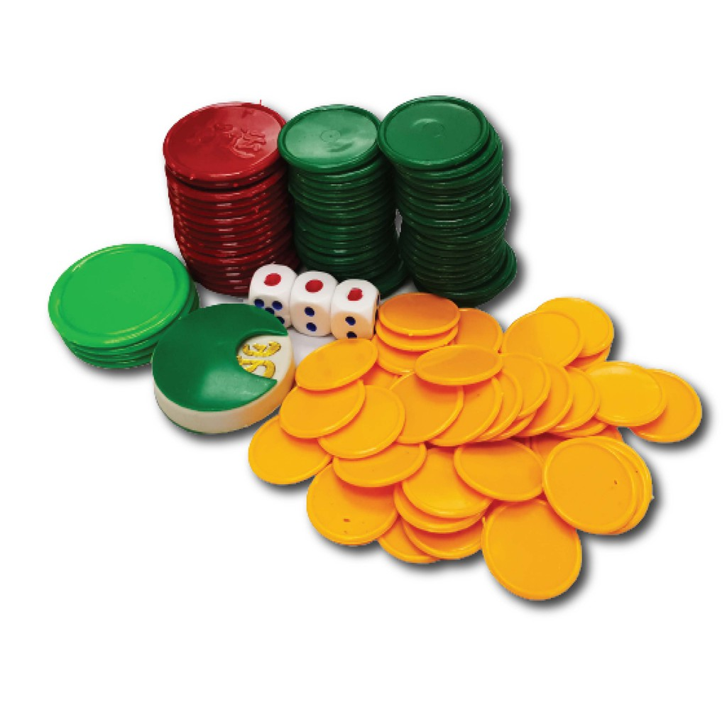 [READY STOCK] Hot Selling4 Colour Mahjong Chip/OngOngLai/FREE DICE 4色筹码