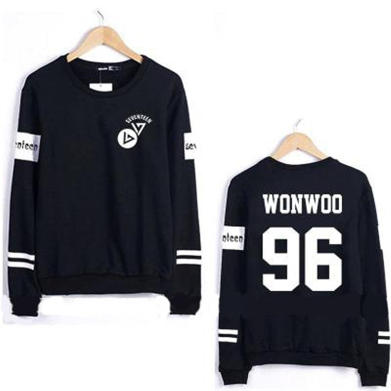 Kpop Seventeen WONWOO Sweater 1st Mini Album 17 CARAT Unisex Hoodie  Sweatershirt