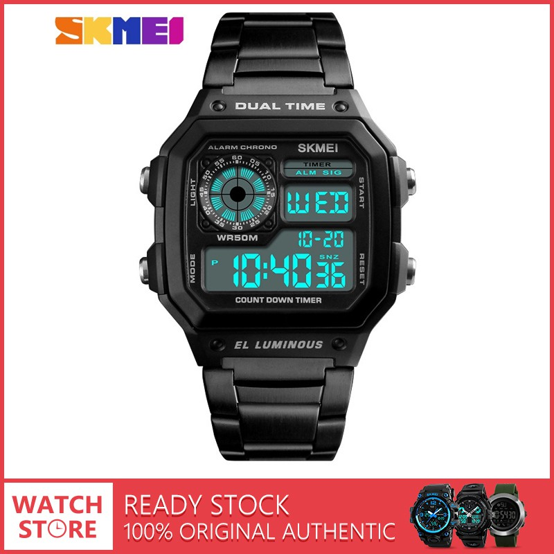 Original SKMEI 1155B Man s Sports Watch 50M Waterproof Multifunction Outdoor   979c14fd24