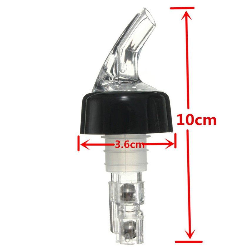 2× Measured Bottle Shot Stopper Pourer Liquor Bottle Dispenser Whisky Liquor Bar