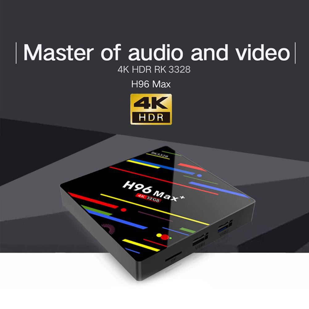 H96 Max Android 8 1 Set Top Box Quad-Core 4G RAM 32G ROM 2 4G WiFi TV Box  Octorica