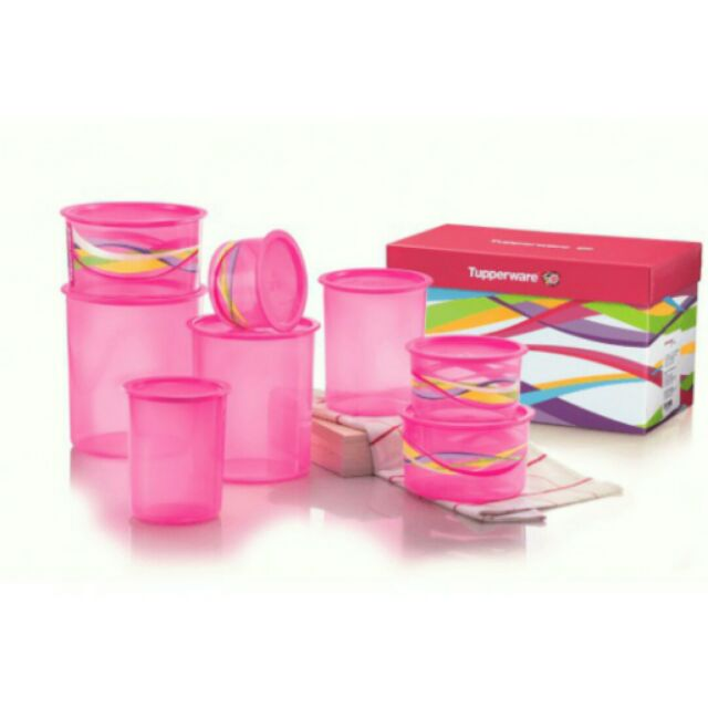 (3days offer) Tupperware lovely pink one touch