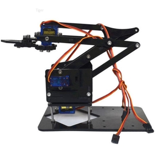 Tiger New Diy Robot Arm Claw Arduino Servos Kit Mechanical Grab Manipulator Assemble