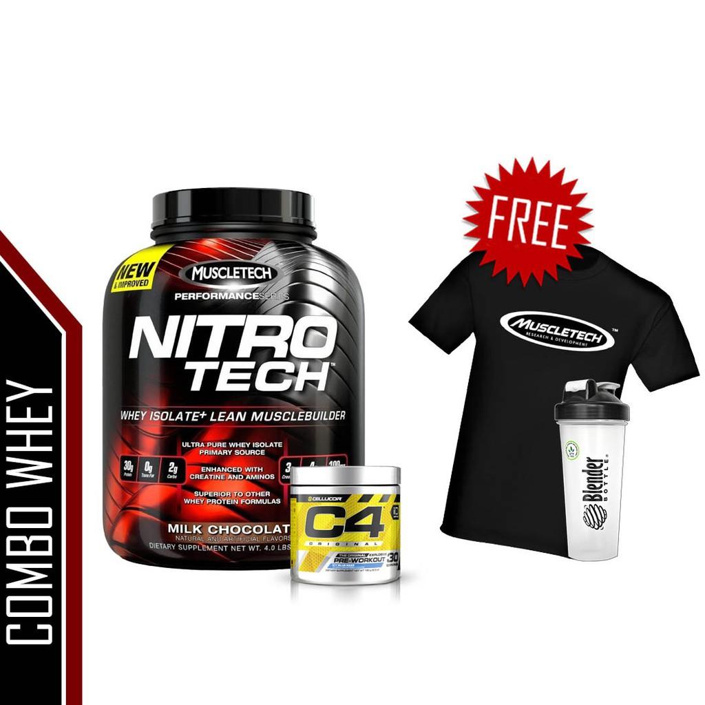 Muscletech Nitrotech 4lbs Free Serious Mass Sample Nitro Tech Whey Gold 6 Lb Protein Shopee Malaysia