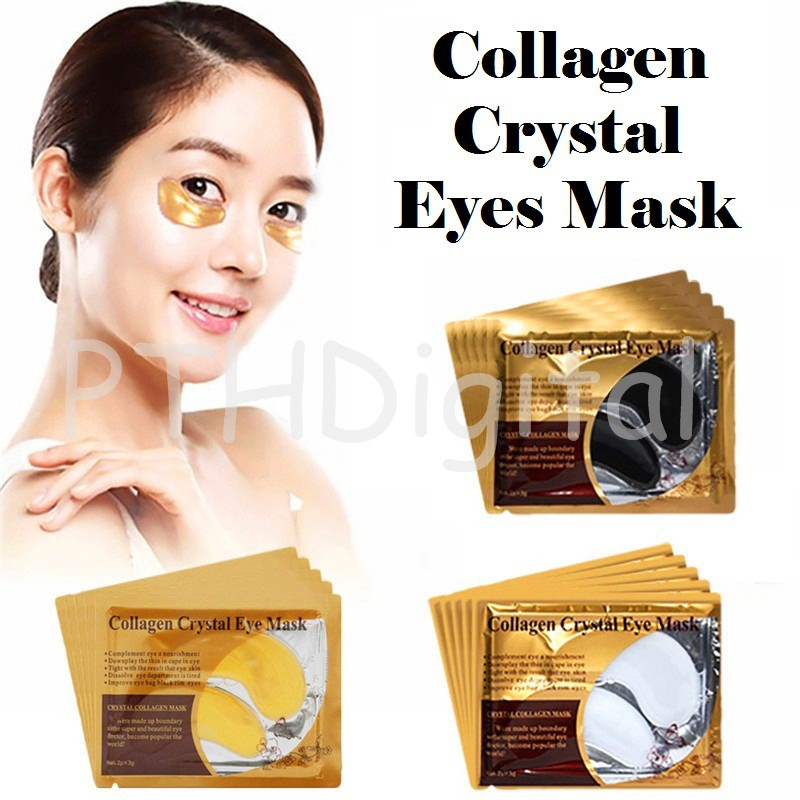 【HOT】Collagen eye crystal gold eye mask remove dark circles 2pc=1pair | Shopee Malaysia