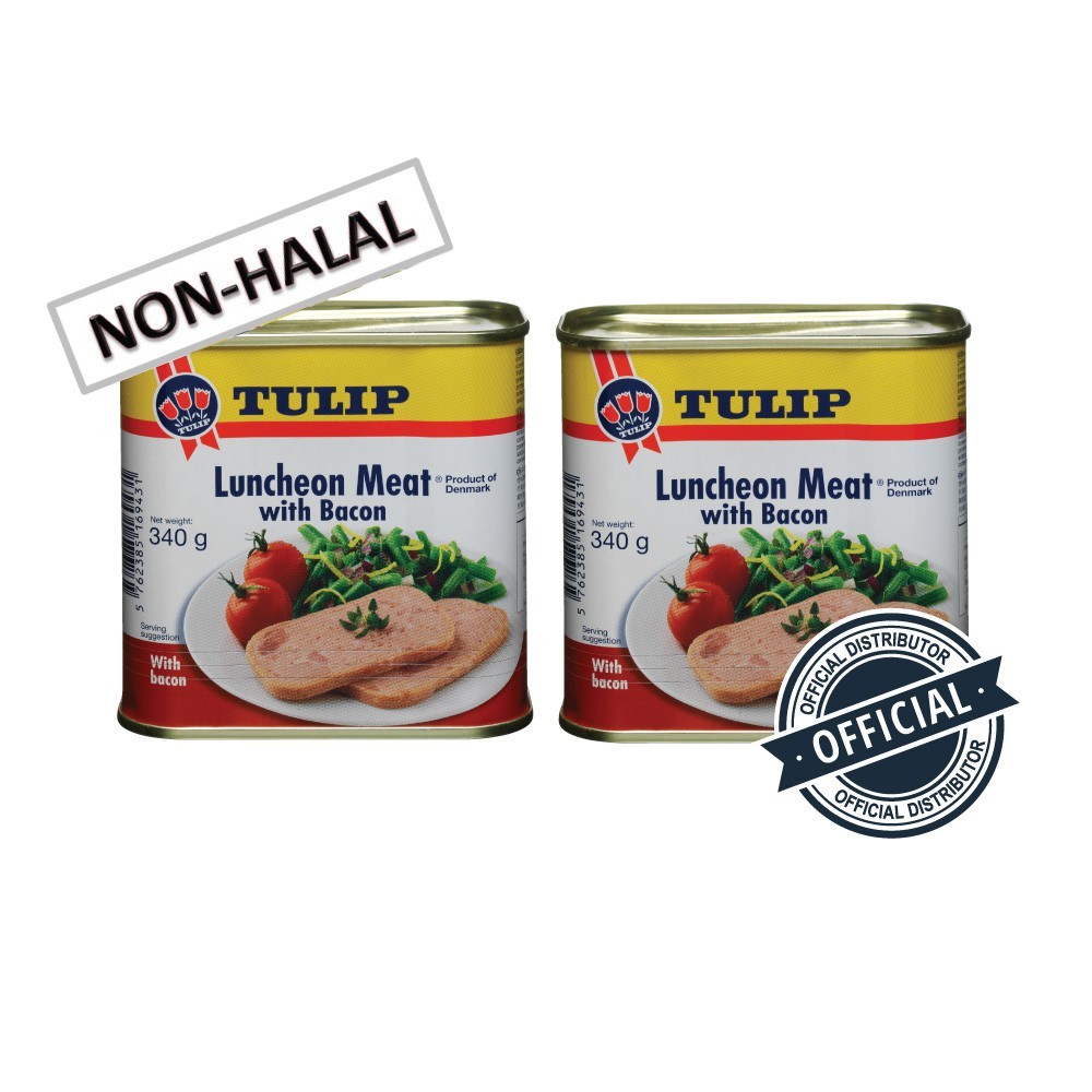 Tulip Pork Luncheon Meat with Bacon 340g (2 CANS SPECIAL OFFER)