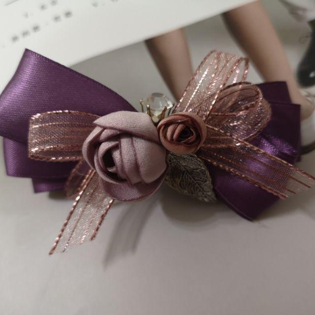 Floral ribbon hairclip