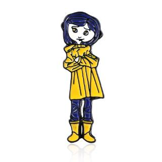 Cute Coraline Brooch Spooky Pin Girls Anime Fans Great Creepy Collection Shirts Jackets Decor Shopee Malaysia