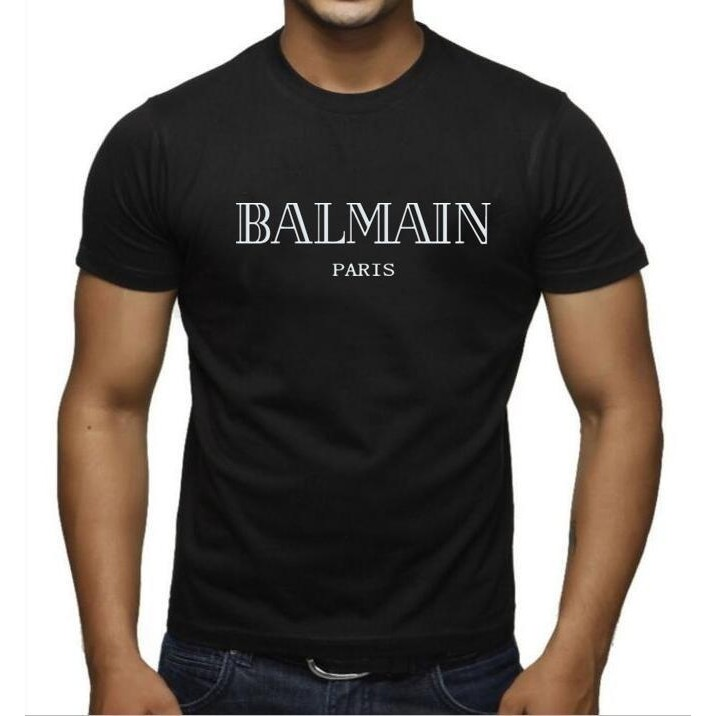 pretty nice 24628 ee4c4 Balmain Paris T Shirt Men and Women's Fashion T-Shirt