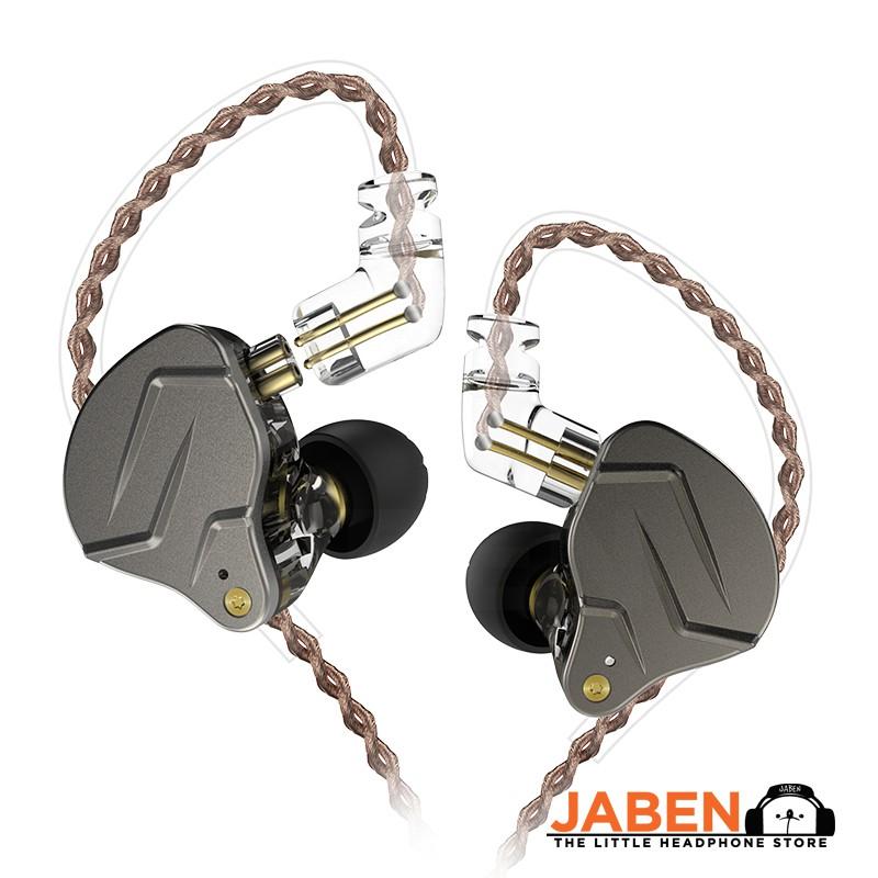 KZ ZSN Pro Dual Driver Hybrid In-line Mic Wired In-Ear Earphones [Jaben]
