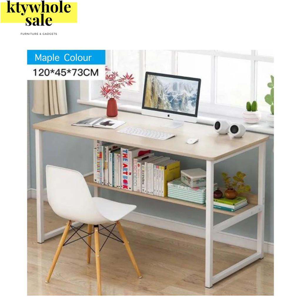 KTY office table/study table/meja study/meja komputer/meja belajar/meja belajar budak/120cm(READY STOCK MALAYSIA)
