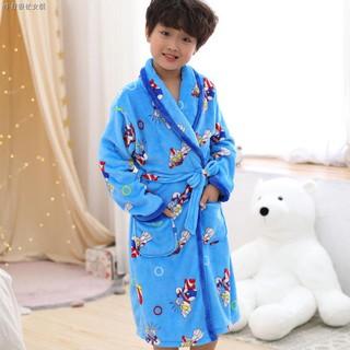 Super Wings Kids Coral Fleece Bathrobe Night Gown