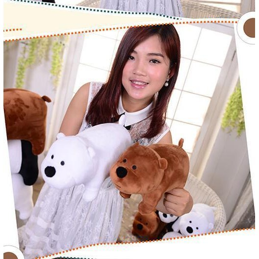 Cute We Bare Bears gift Custom Plush Toy Doll 3pcs Xmas Gift