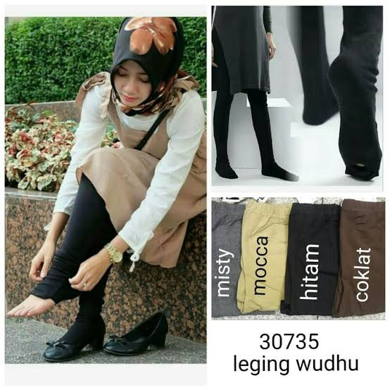 Wudu Leggings Leggings Muslim Women Rayon Spandek Material Shopee Malaysia