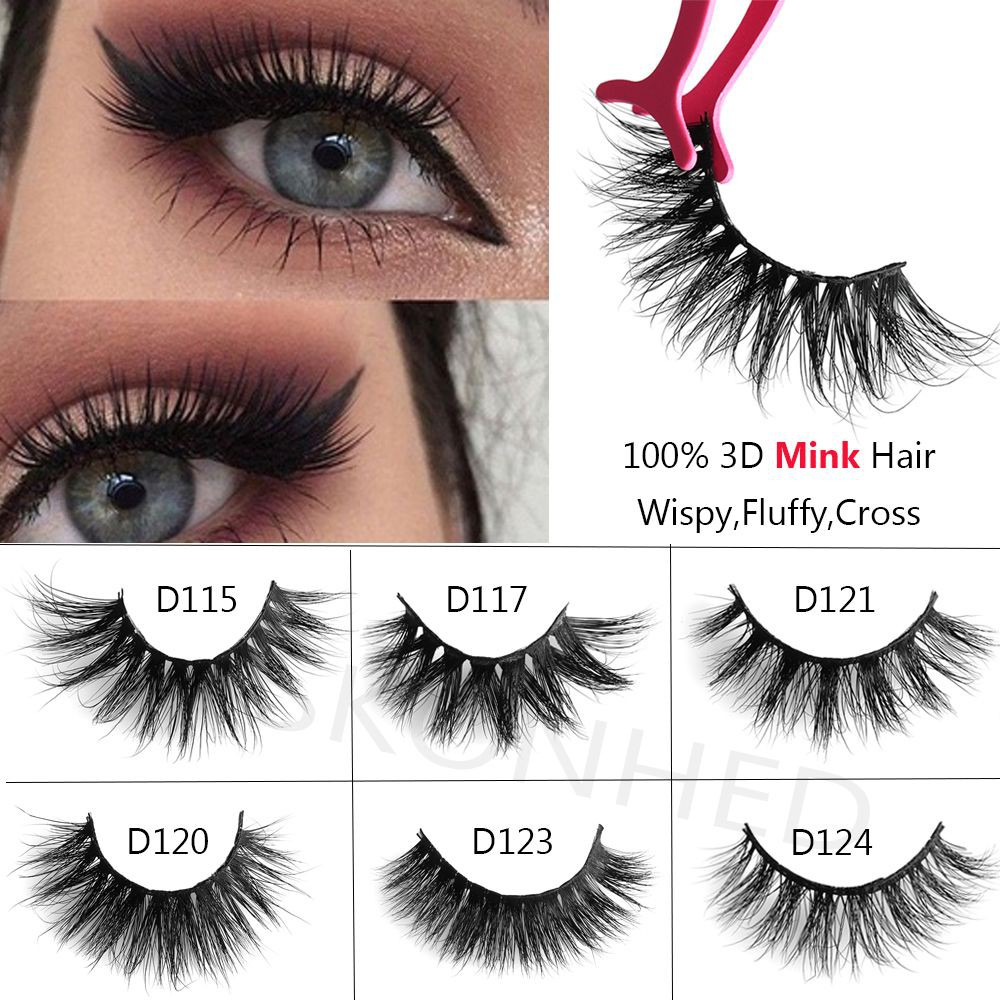 494dc50eb5a ProductImage. ProductImage. Extension Tools 100% Mink Hair 3D Lashes  SKONHED False Eyelashes Wispy Cross