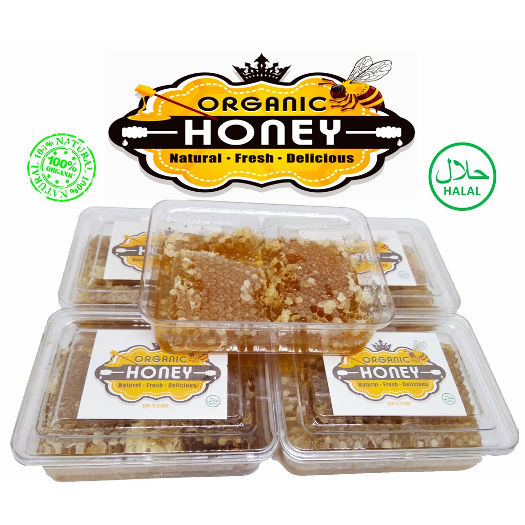 100% ORGANIC HONEY COMB MADU SARANG LEBAH ASLI 200g & 500g HONEY TURKEY