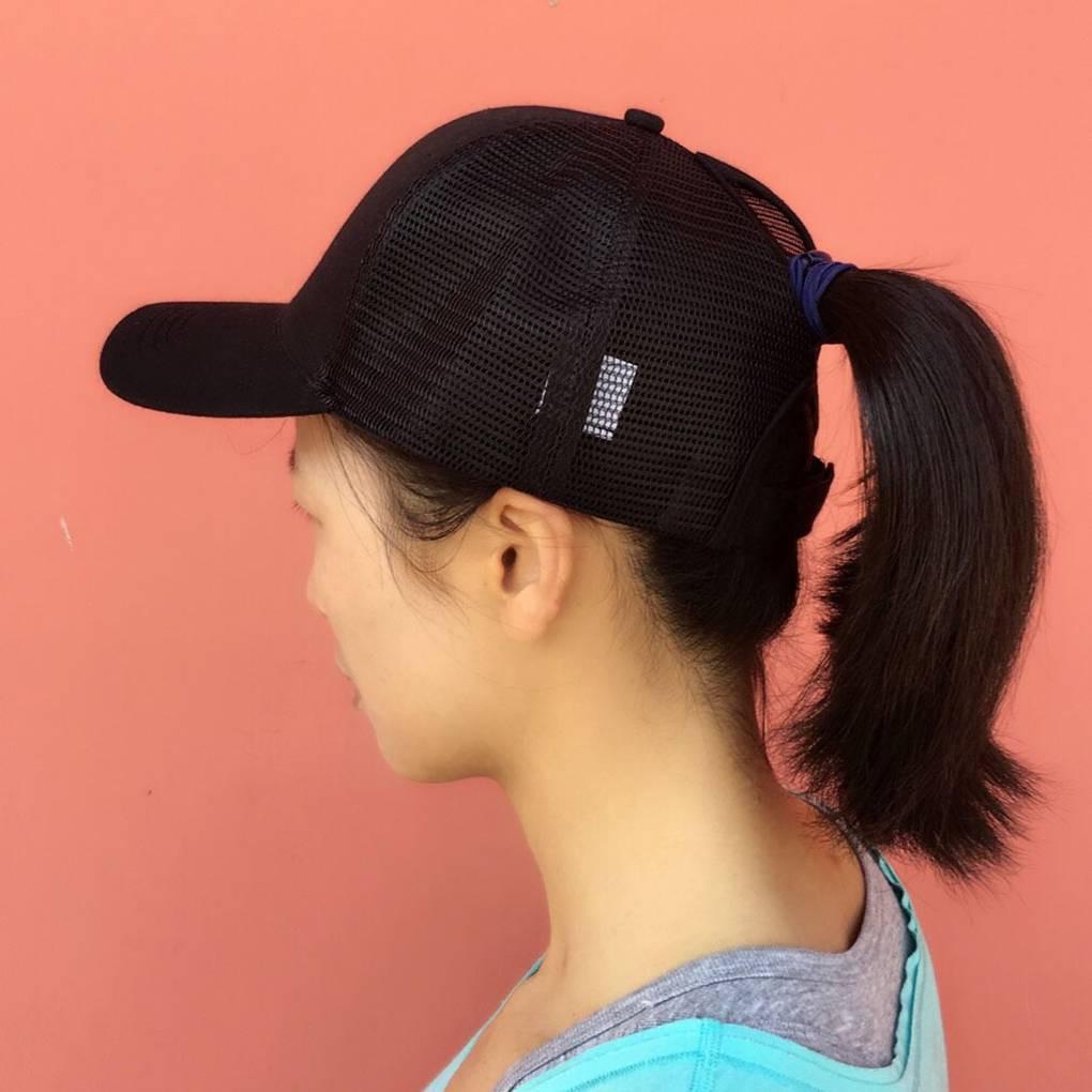 da945c34b ELEN-Women Adjustable Ponytail Baseball Cap Girl Snapback Outdoor ...