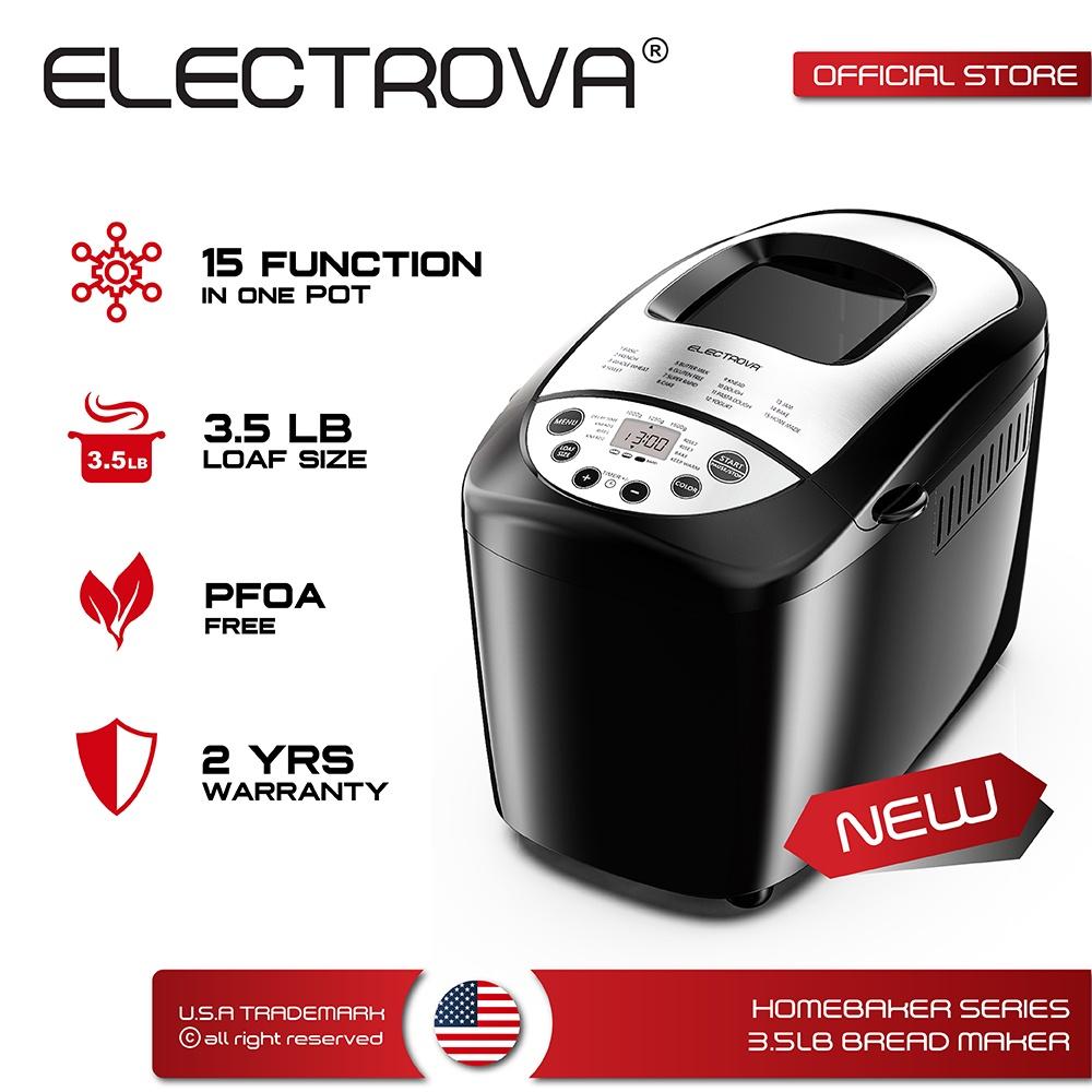 Electrova HomeBaker Series Bread Maker 3.5LB