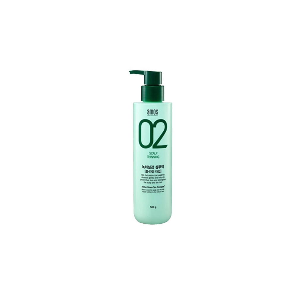Amos 02 Scalp Thining Feel The Green Tea Shampoo 500g