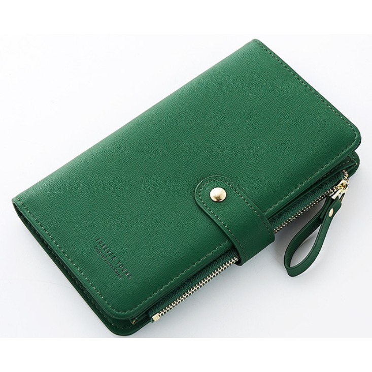 5ecc0458ae2d GREEN HIJAU Forever Young Large Capacity Phone Long Zipper Clutch Wallet  Purse