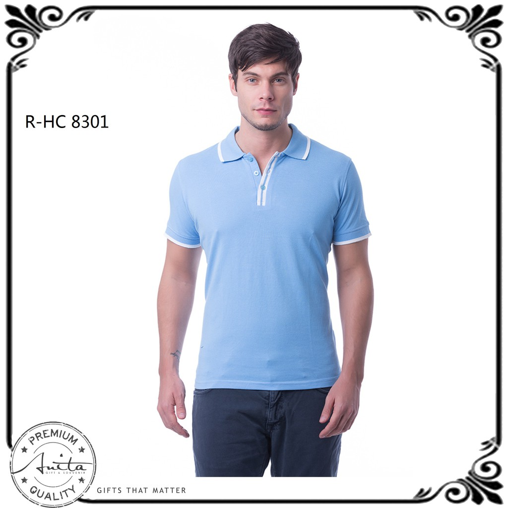 a835d0861 Signature Polo - Scarlet Red   White   Navy Blue (Unisex) HC8512 ...