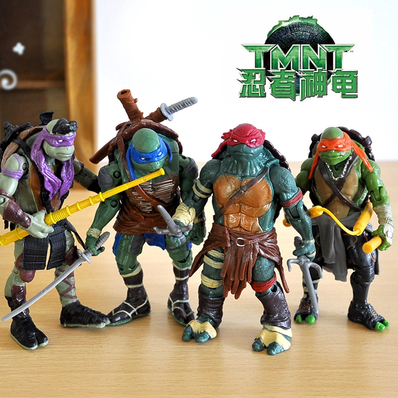 Cod Teenage Mutant Ninja Turtles Movie Tmnt Set Of 4 Action