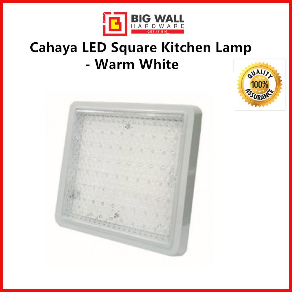 Cahaya LED Square Kitchen Lamp - Warm White 12W