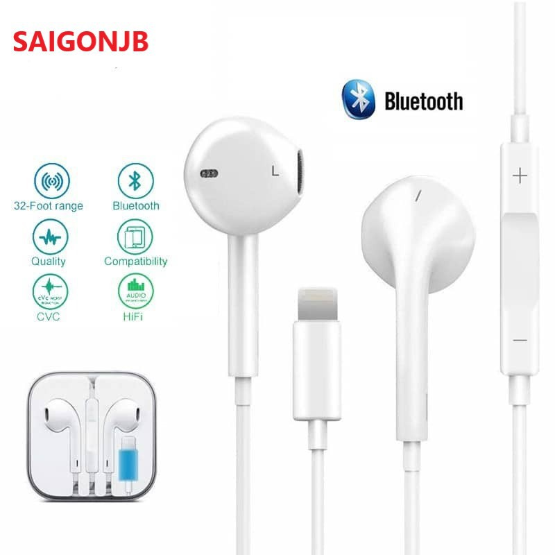 Earphone For Apple IPhone 8 7 Plus X XR Max Original Headset Wired In-ear Stereo