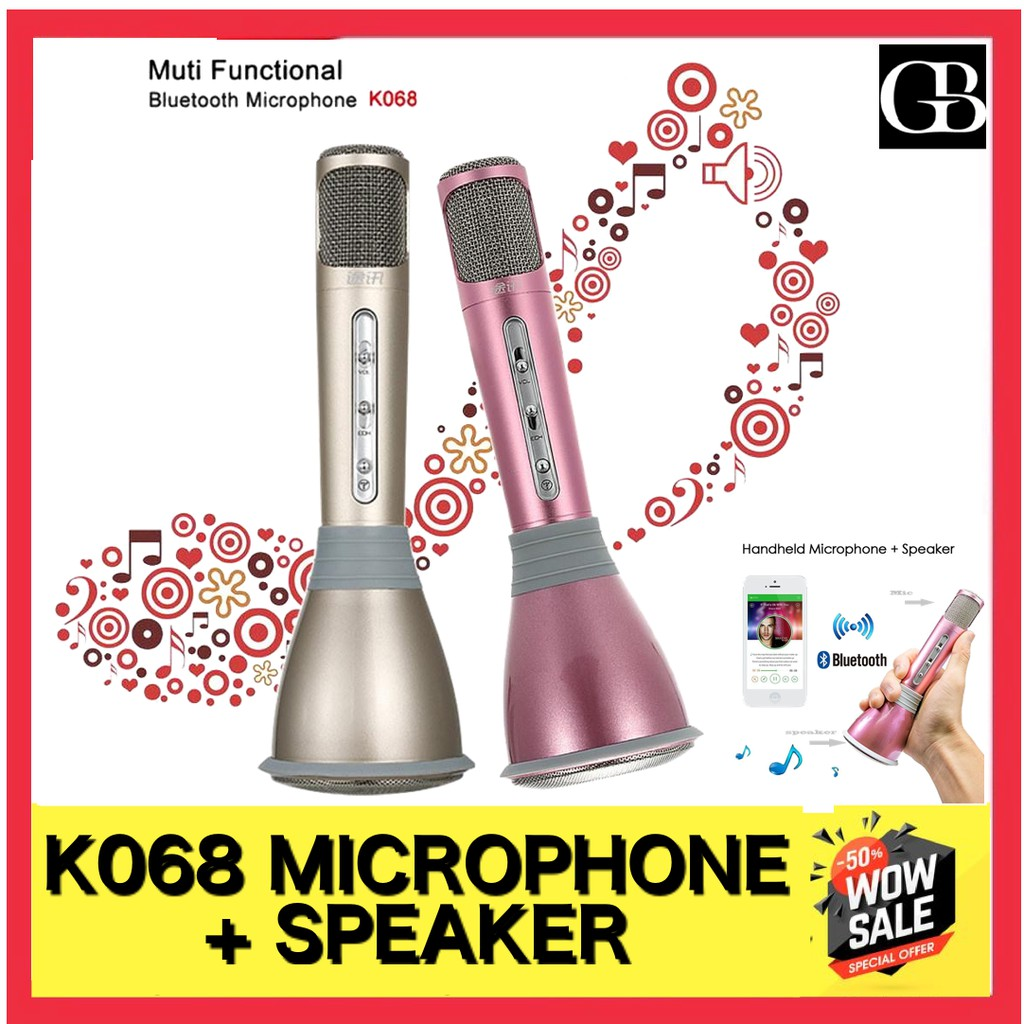 Micgeek Q9 Q7 Portable Wireless Bluetooth Karaoke Microphone Ktv With Speaker Shopee Malaysia