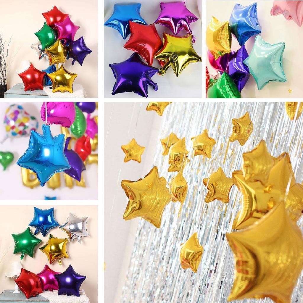 5 //10pcs 10/'/' Five-pointed Star Helium Foil Balloon Party Wedding Birthday Decor