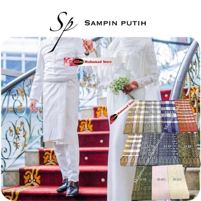 Sp sampin putih Sampin Songket