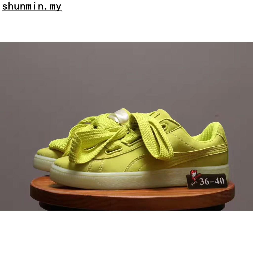 quality design 56b73 fec96 Puma Shoes Suede Heart Green