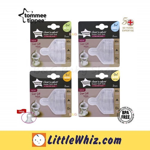 Tommee Tippee: Closer To Nature - Super Soft Teat - 2pcs