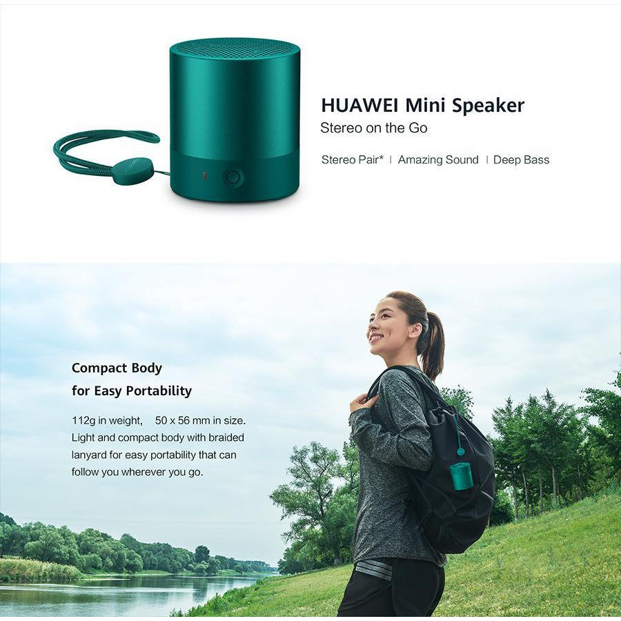 HUAWEI CM510 WIRELESS BLUETOOTH MINI SPEAKER SUPER DEEP BASS AMAZING HD SOUND QUALITY STEREO LOUD VOICE LOUDSPEAKER