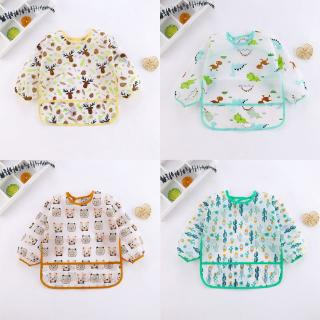 Baby Lightweight Waterproof Bib Eating Bibs Long Sleeve Bibs Washable Feeding Bibs Stain and Odor Comfortable Bibs 1-2T